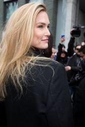 Bar Rafaeli Arrives at Giorgio Armani Fashion Show in Milan 02/24/2018