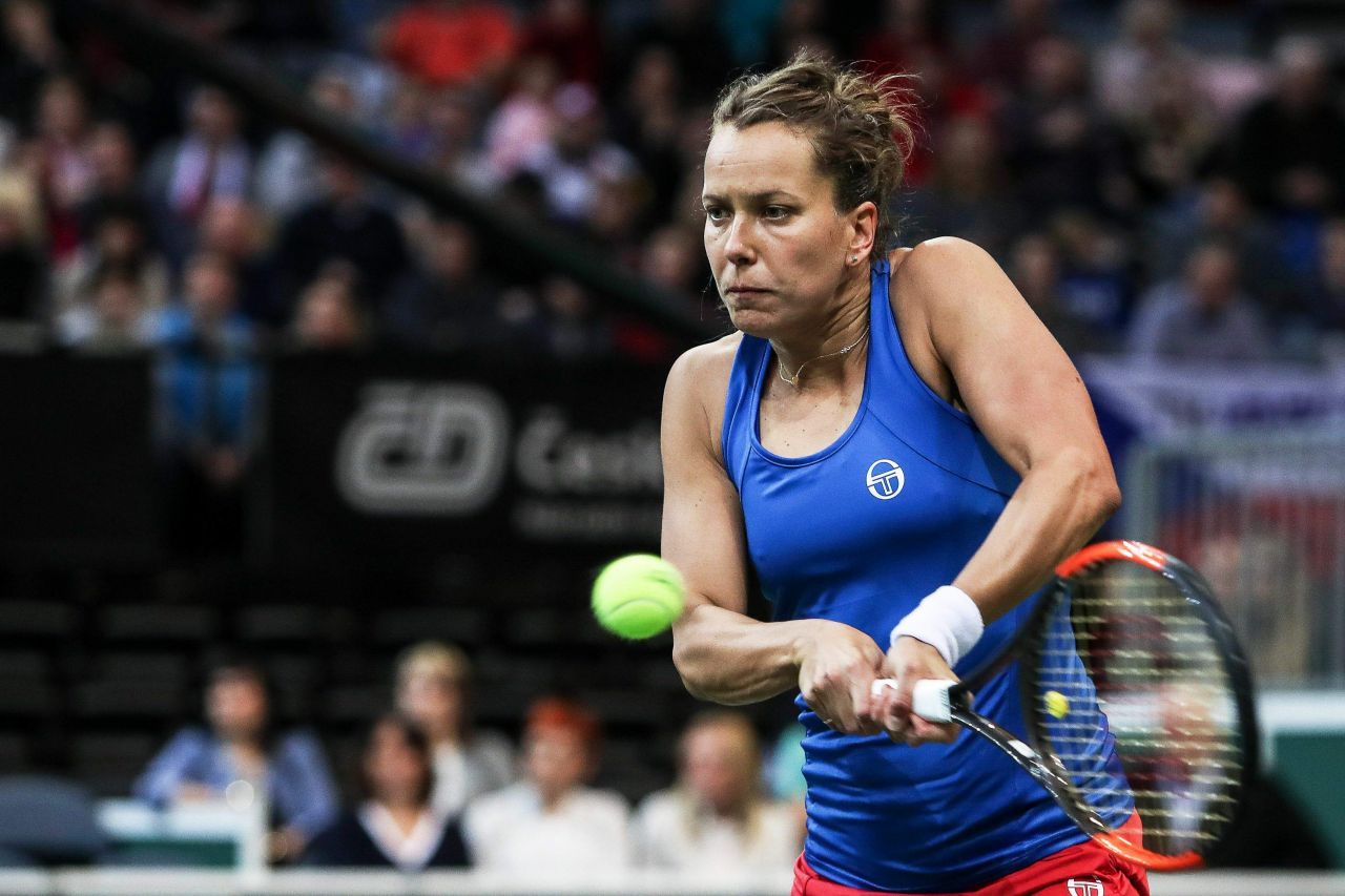 Permalink to Barbora Strycova Tennis Fed Cup World Group Czech Republic Vs Switzerland In Prague