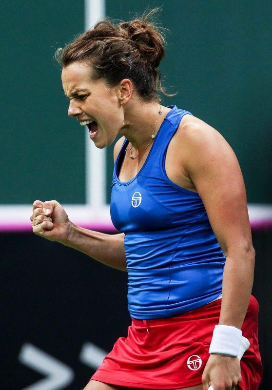 Barbora Strycova - Tennis Fed Cup World Group 1 - Czech Republic vs Switzerland in Prague
