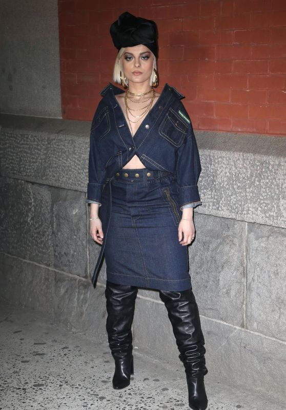 Bebe Rexha – Marc Jacobs Fashion Show, NYFW 02/14/2018