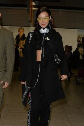 Bella Hadid at Heathrow Airport in London 02/19/2018