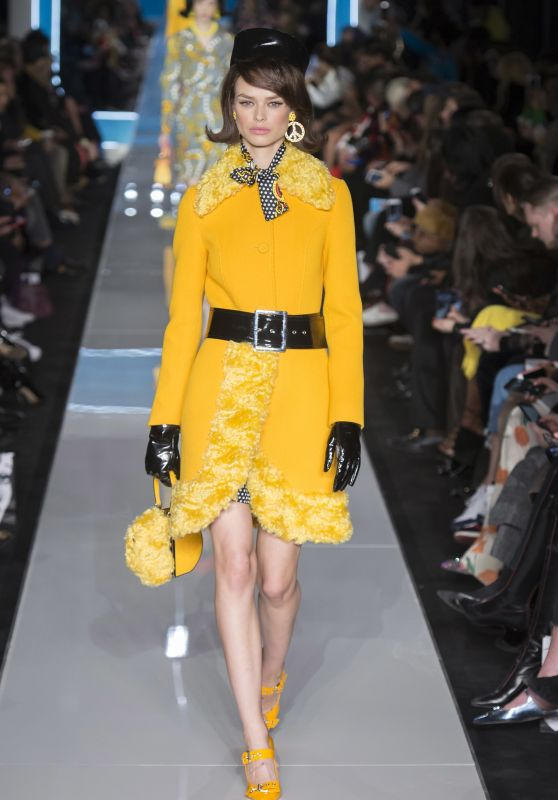 Birgit Kos Walks Moschino Show, Milan Fashion Week 02/21/2018