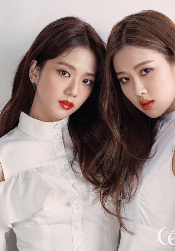 BlackPink Jisoo and Rosé - CeCi Magazine March 2018