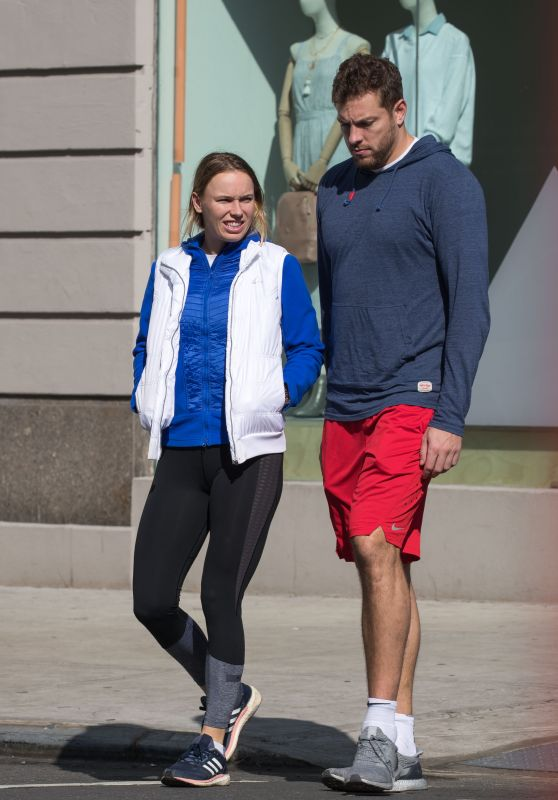 Caroline Wozniacki and fiance David Lee Out in New York City 02/25/2018