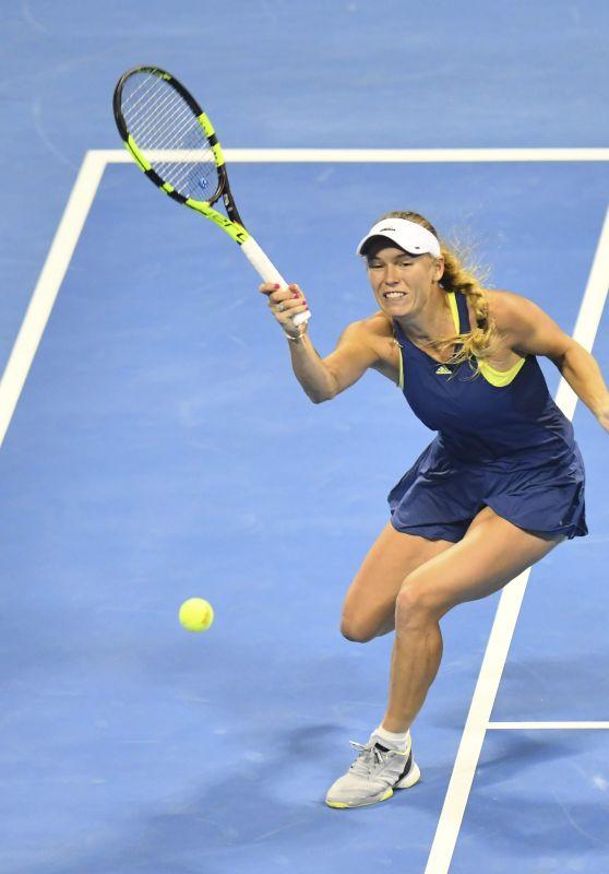 Caroline Wozniacki – Qatar WTA Total Open in Doha 02/16/2018