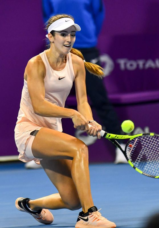 Catherine Bellis – Qatar WTA Total Open in Doha 02/16/2018