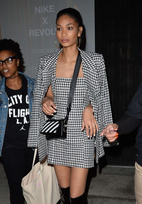 Chanel Iman – Leaves a Nike X Revolve Party in West Hollywood