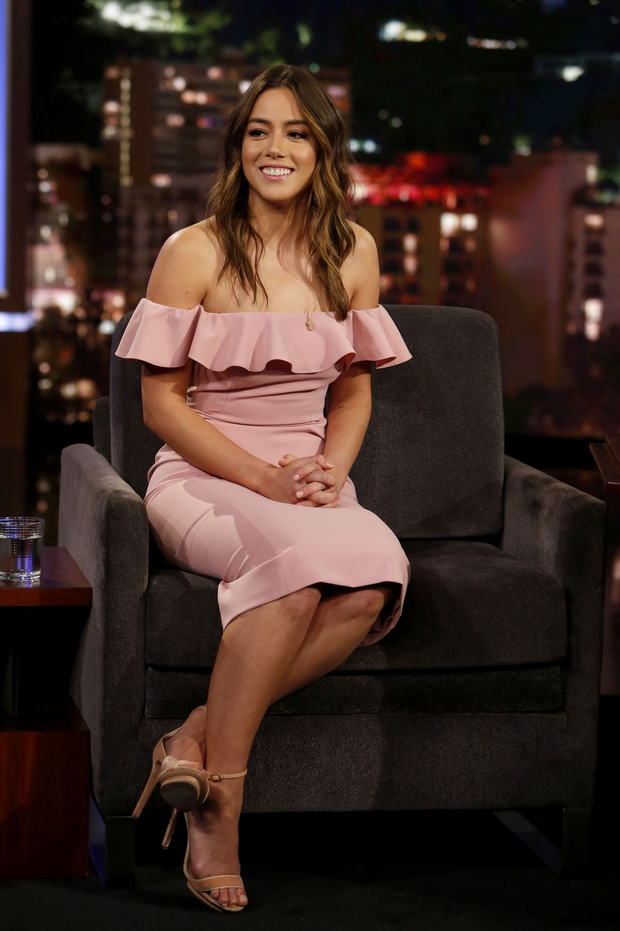 Chloe Bennet - Jimmy Kimmel Live! in Hollywood 02/14/2018  Chloe Bennet - ...