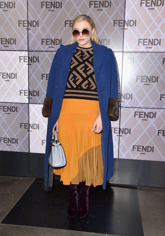 Chloe Grace Moretz - Fendi Fashion Show in Milan 02/22/2018