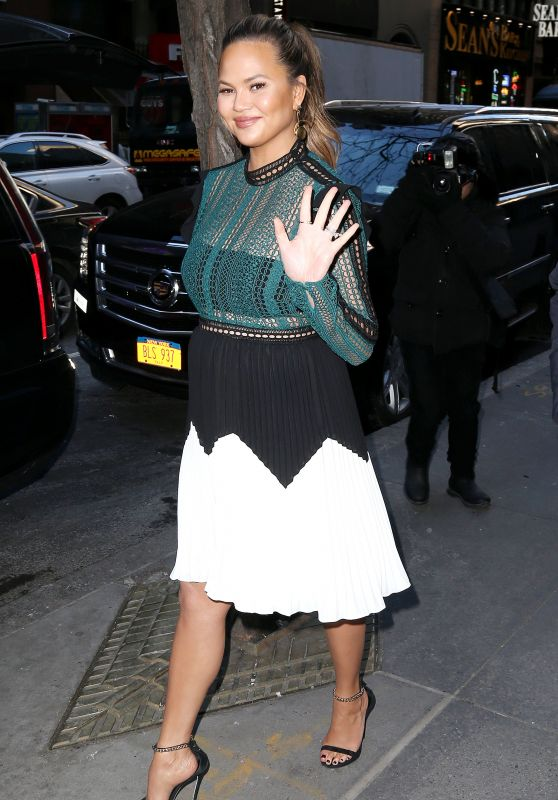 """Chrissy Teigen at the """"Today Show"""" in NYC"""