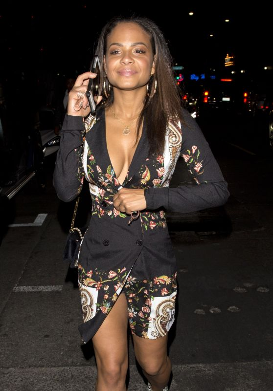 Christina Milian Leaving The Avenue Night Club in West Hollywood