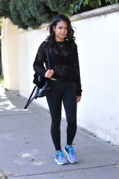 Christina Milian - Leaving the Gym in Los Angeles 02/02/2018