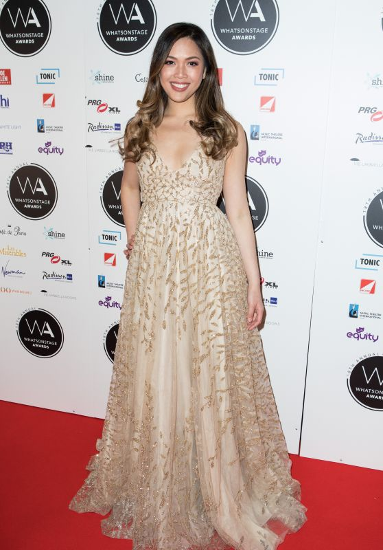 Christine Allado – 2018 WhatsOnStage Awards in London