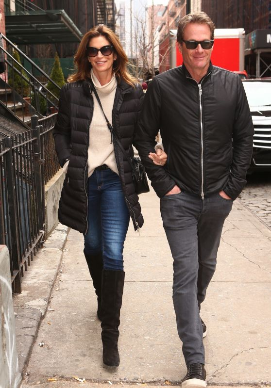 Cindy Crawford and Rande Gerber in New York City 02/14/2018