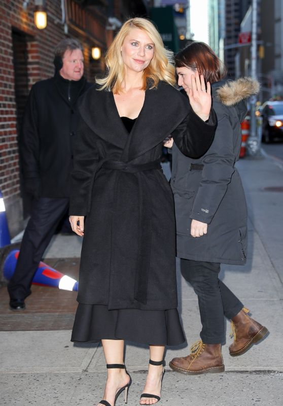Claire Danes at The Late Show With Stephen Colbert in New York