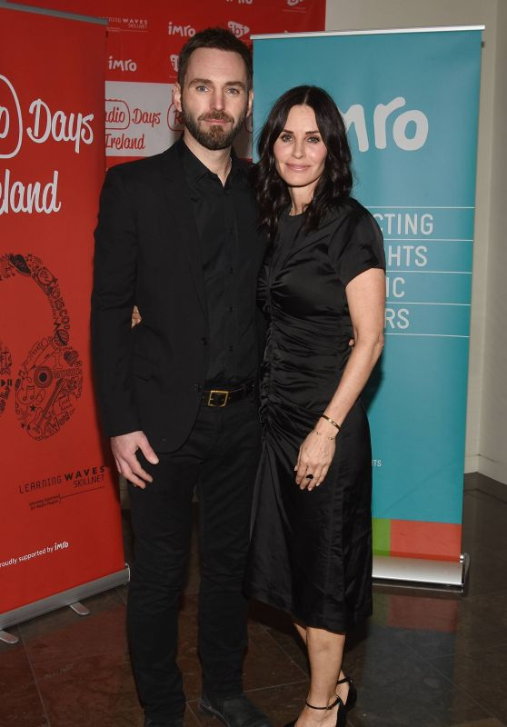 Courteney Cox and Fiance Johnny McDaid at IMRO Awards in Dublin