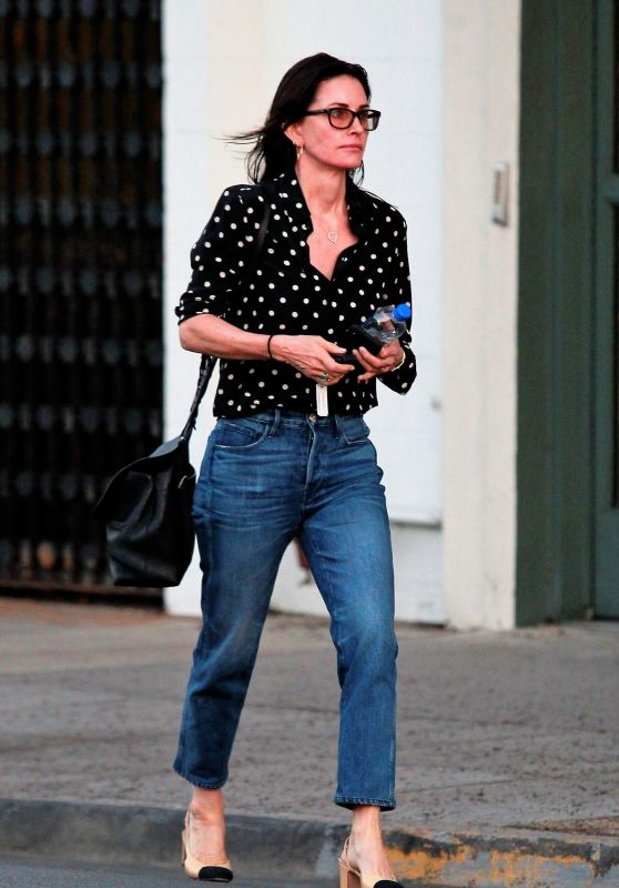 Courteney Cox Leaves the Hair Salon in Los Angeles