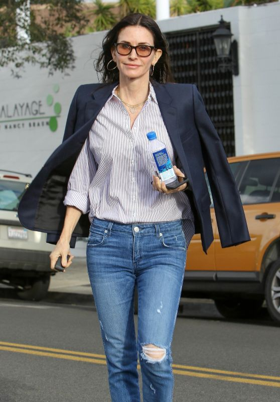 Courteney Cox - Visiting a Salon in West Hollywood 02/27/2018