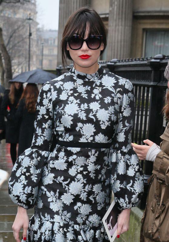 Daisy Lowe Arriving at the Erdem Moralioglu Fashion Show, LFW 02/19/2018