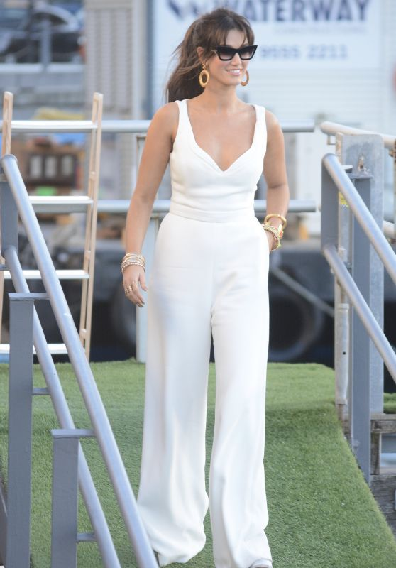 Delta Goodrem in White - Out in Sydney 02/27/2018