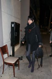 Diane Warren at Craig Restaurant in Los Angeles 02/23/2018