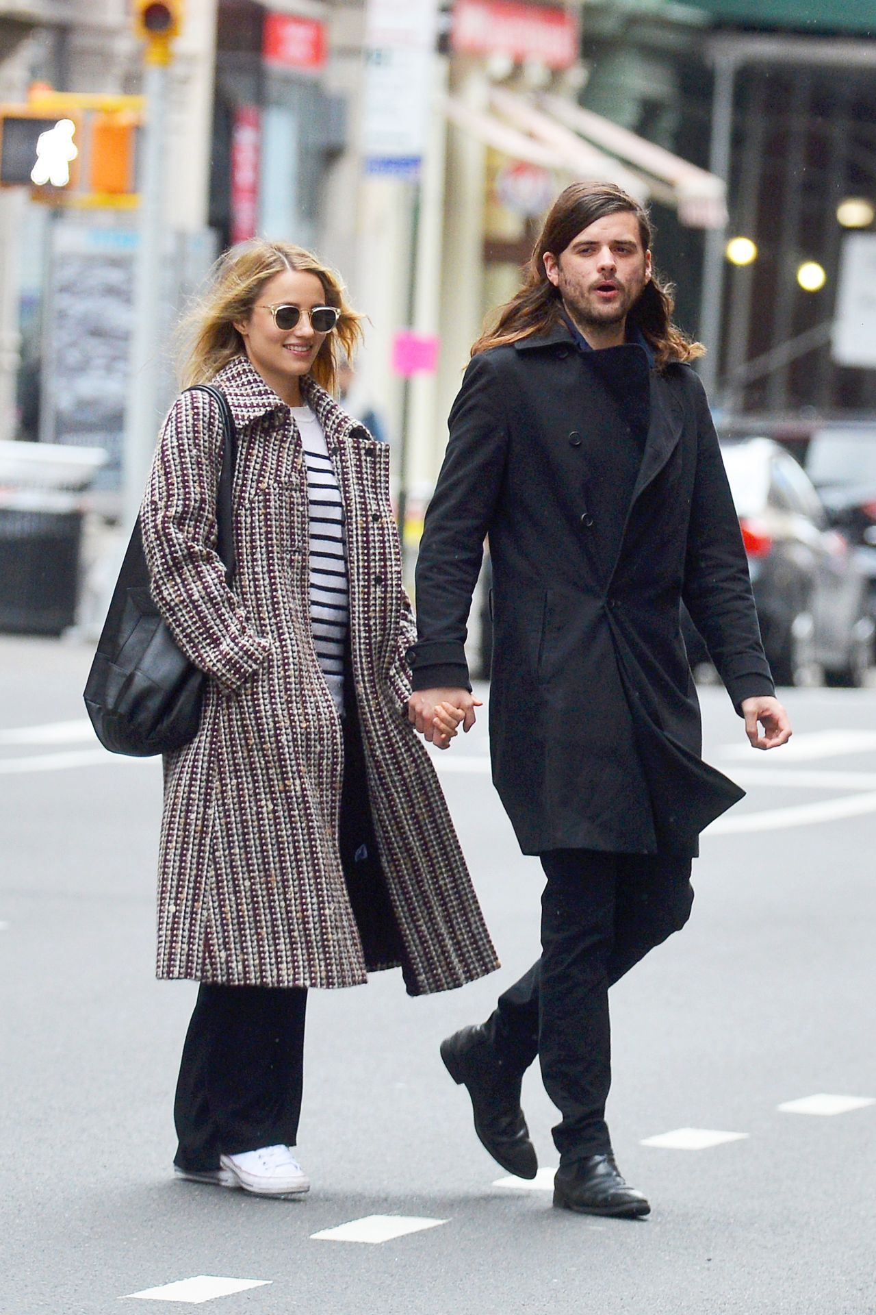 Dianna Agron and Winston Marshall on a Stroll in NYC 02/25 ...