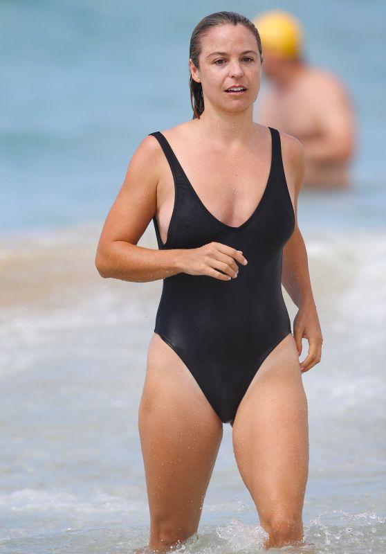 Elise Stacy in Swimsuit on Bondi Beach