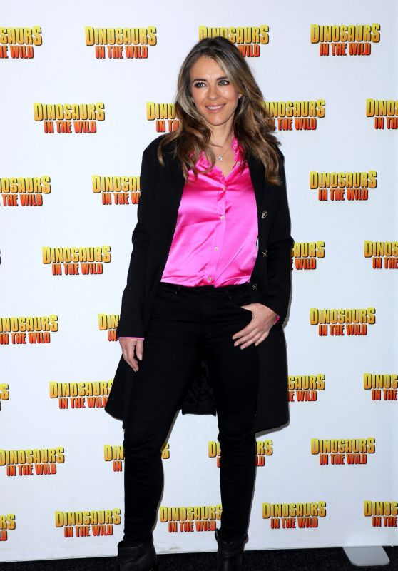 "Elizabeth Hurley - ""Dinosaurs in the Wild"" Exhibition in London"
