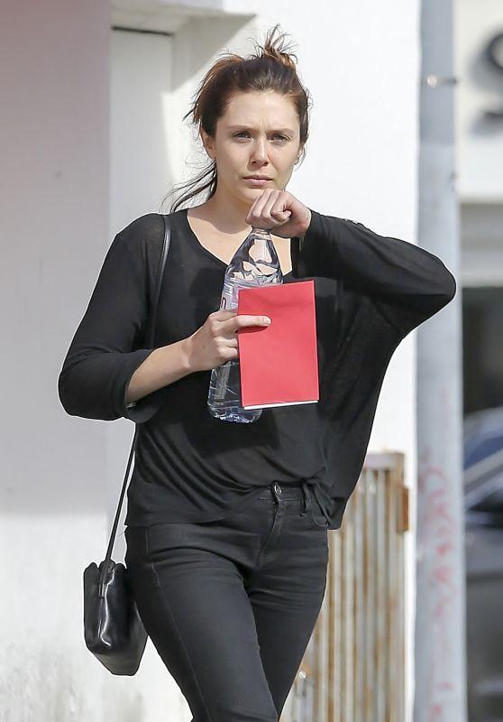 Elizabeth Olsen in Casual Outfit in LA 02/14/2018