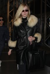 Elle Fanning at LAX Airport 02/13/2018