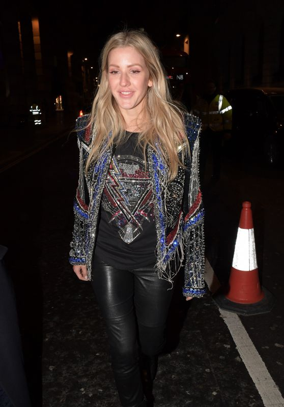 Ellie Goulding - Leaving The Ned Hotel in London