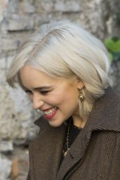 Emilia Clarke - Filming Dolce and Gabbana Commercial in Rome 02/04/2018