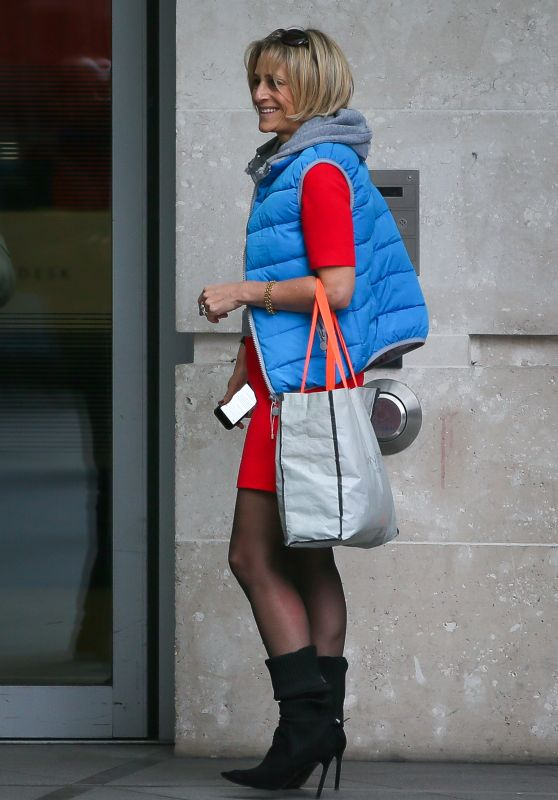 Emily Maitlis - Outside the BBC TV Studios in London
