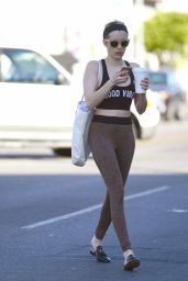Emma Roberts in Workout Gear - Leaves a Dance Class in LA