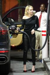 Emma Roberts - Pumps Gas in LA 01/31/2018