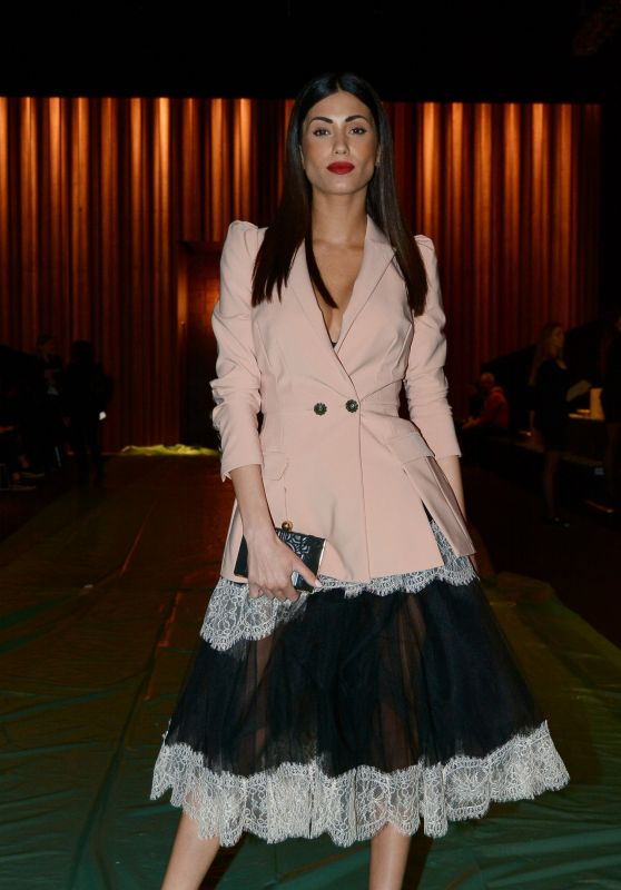 Federica Nargi at Elisabetta Franchi Fashion Show in Milan 02/24/2018