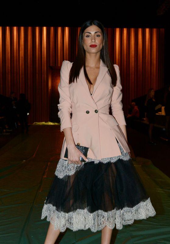 Federica Nargi at Elisabetta Franchi Fashion Show in Milan 02/24/2018