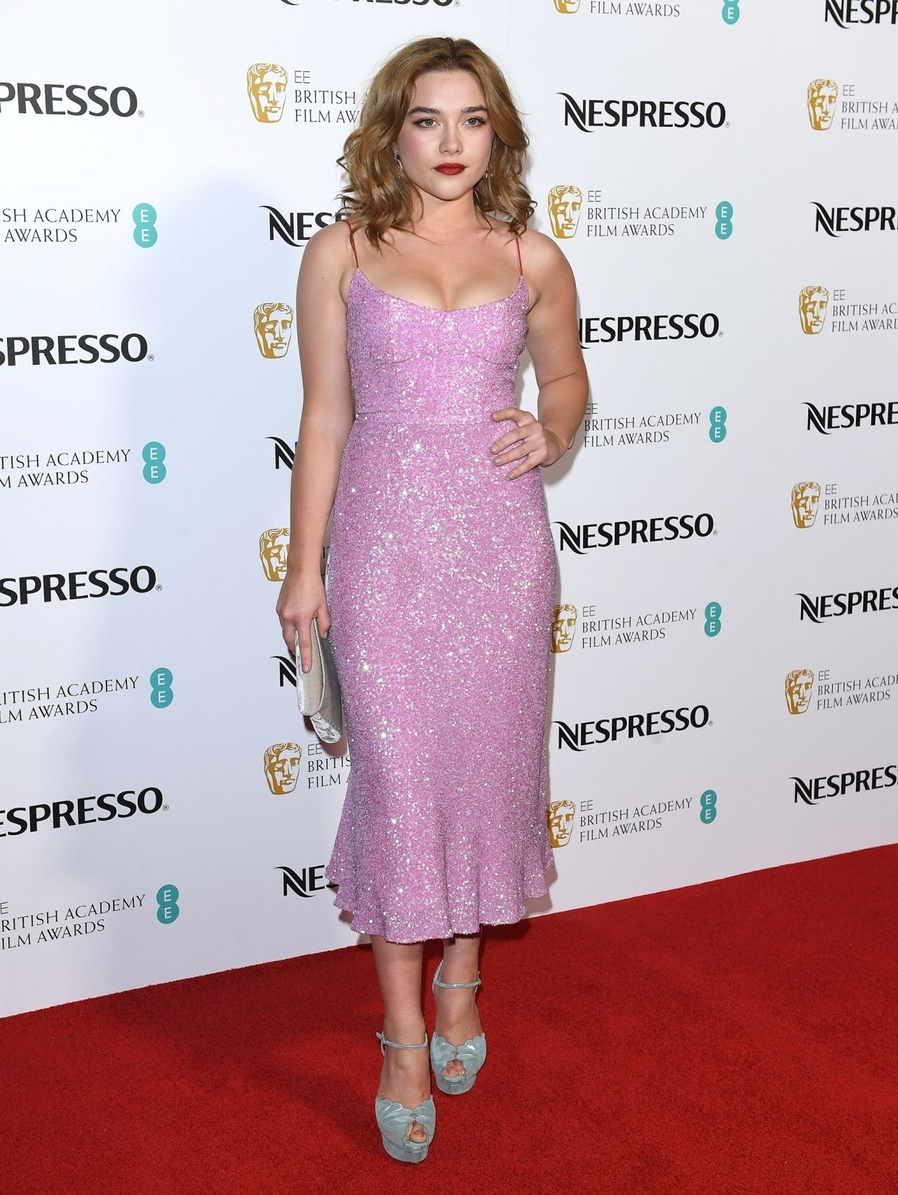Florence Pugh At EE British Academy Film Awards Nominees