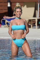 Frankie Essex in a Blue High Waisted Bikini in Portugal 02/22/2018