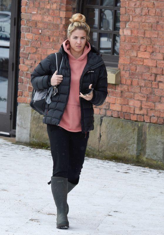 Gemma Atkinson - Leaving Key 103 Radio Station in Manchester 02/28/2018