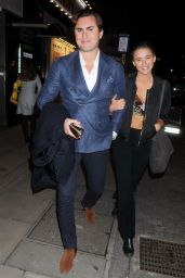 Geo Rushby Night Out - Leaving Bunga Bunga Anniversary Party in London