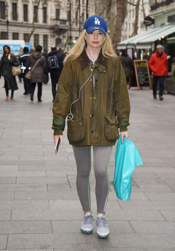 Georgia Toffolo Arriving at Capital FM in London 02/21/2018