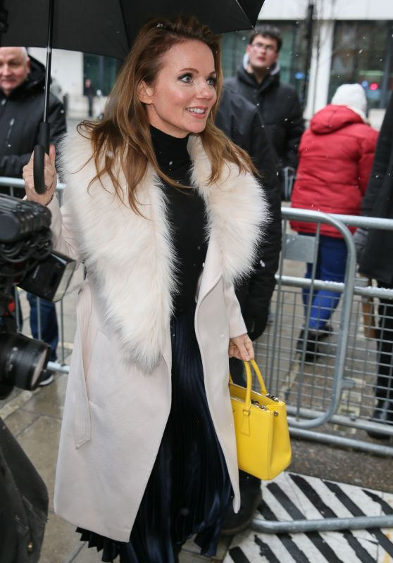 Geri Horner - Arriving at BBC Radio 2 Studios in London 02/26/2018