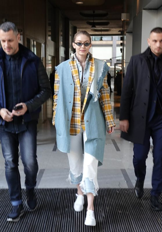 Gigi Hadid Street Fashion - Milan, Italy 02/21/2018