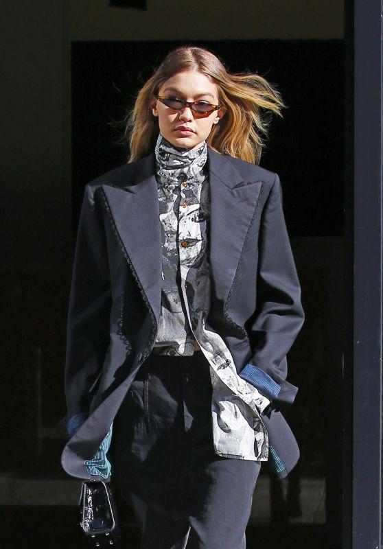 Gigi Hadid Style and Fashion - New York City 02/08/2018