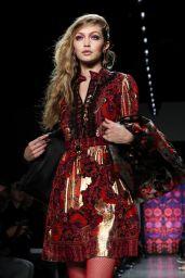 Gigi Hadid Walks Anna Sui Fashion Show in NYC