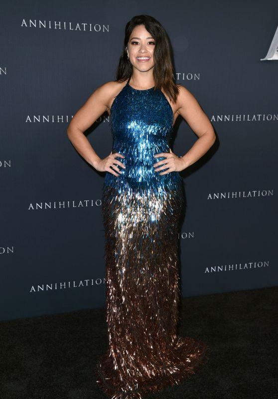 "Gina Rodriguez - ""Annihilation"" Premiere in Los Angeles"