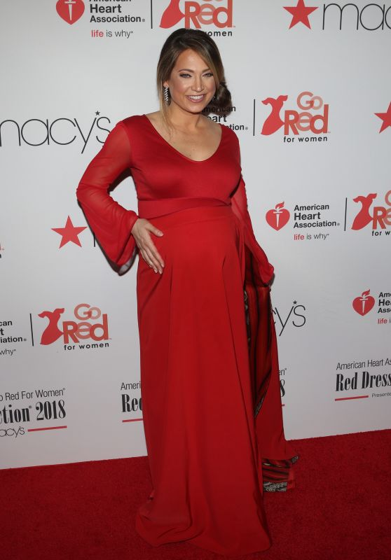 Ginger Zee – NYFW Red Dress Collection 2018