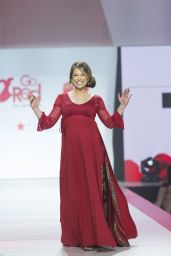 Ginger Zee Walks Runway for Red Dress 2018 Collection Fashion Show in NYC
