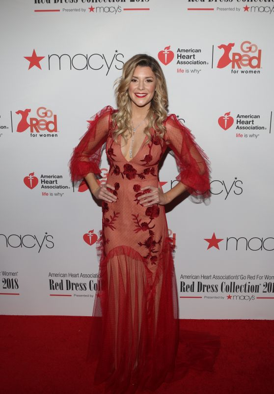 Grace Helbig – NYFW Red Dress Collection 2018